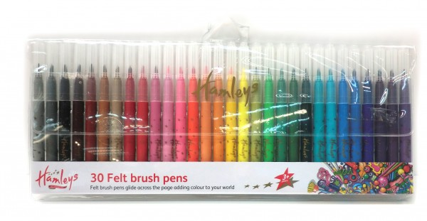 Hamleys 30 Felt Brush Pens, 164228, , .