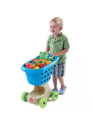 LITTLE HELPERS SHOPPING CART - BLUE, , , .