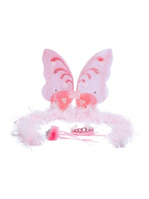 Luvley Pink Fairy Wings, , , .