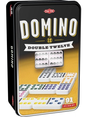 DOMINO DOUBLE 12 SET (TIN BOX), , , .