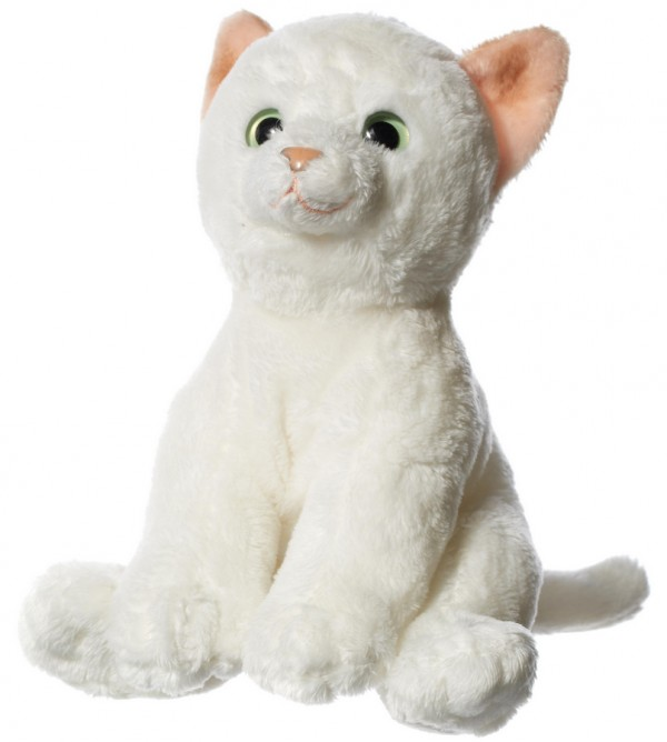 Hamleys 6-Inch White Cat Soft Toy, 296616, , .