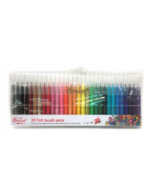 Hamleys 30 Felt Brush Pens, , , .