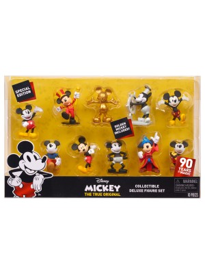 MICKEY MOUSE 90TH 10PK DELUXE FIGURE SET, , , .