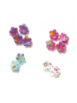 Luvely Pearl Finish Butterfly Claw Clip Assortment, , , .