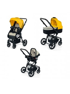 3 CHIC WITH BLACK FRAME YELLOW/GREY, , , .