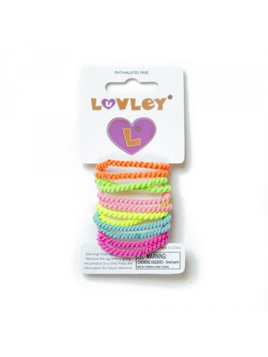 Luvley Neon Mini Hair Elastic, , , .